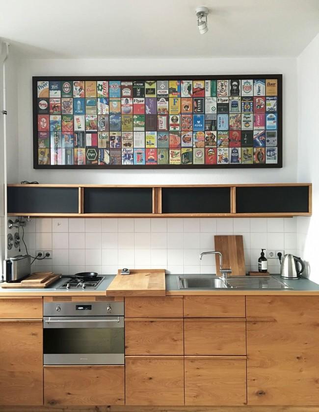 Альтернативный вариант подвесных шкафчиков для стены, которую нельзя перегружать (из гипсокартона на профилях или дерева)