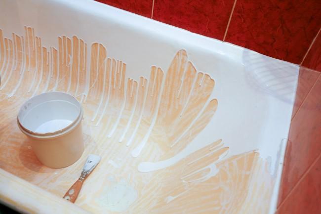 Заливка ванны жидким акрилом