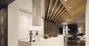 50+ Идей дизайна потолка на кухне: Какой лучше ? Полезные рекомендации специалистов (фото) фото
