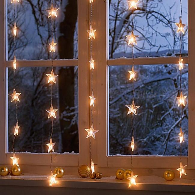 Волшебная новогодняя атмосфера с помощью диодных гирлянд