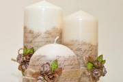 Фото 7 Декупаж свечей (100+ фото): лучшие мастер-классы с идеями праздничного декора
