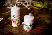 Фото 5 Декупаж свечей: (50 фото) мастер-классы с идеями праздничного декора