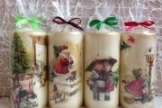 Фото 13 Декупаж свечей: (50 фото) мастер-классы с идеями праздничного декора