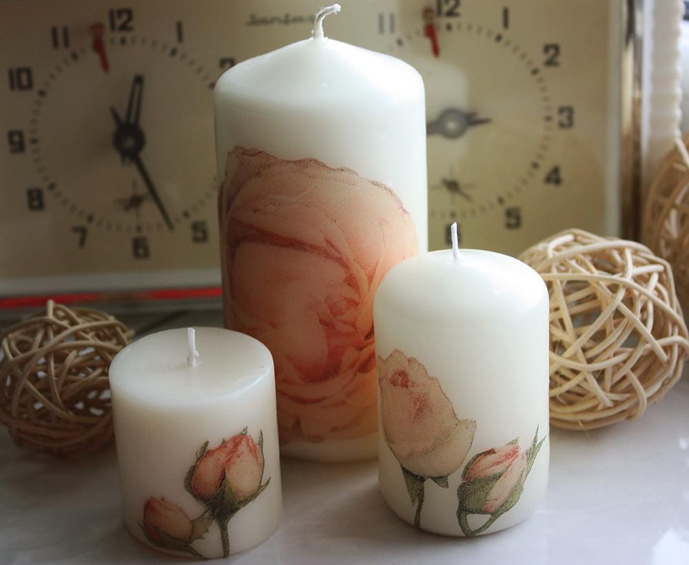 Свечи с декупажем своими руками 34