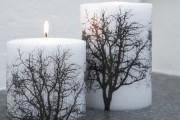 Фото 2 Декупаж свечей: (50 фото) мастер-классы с идеями праздничного декора