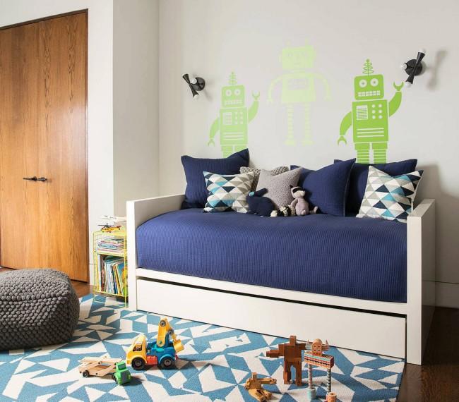 """Темно-синий """"navy"""" цвет - отличный выбор для комнаты мальчика"""
