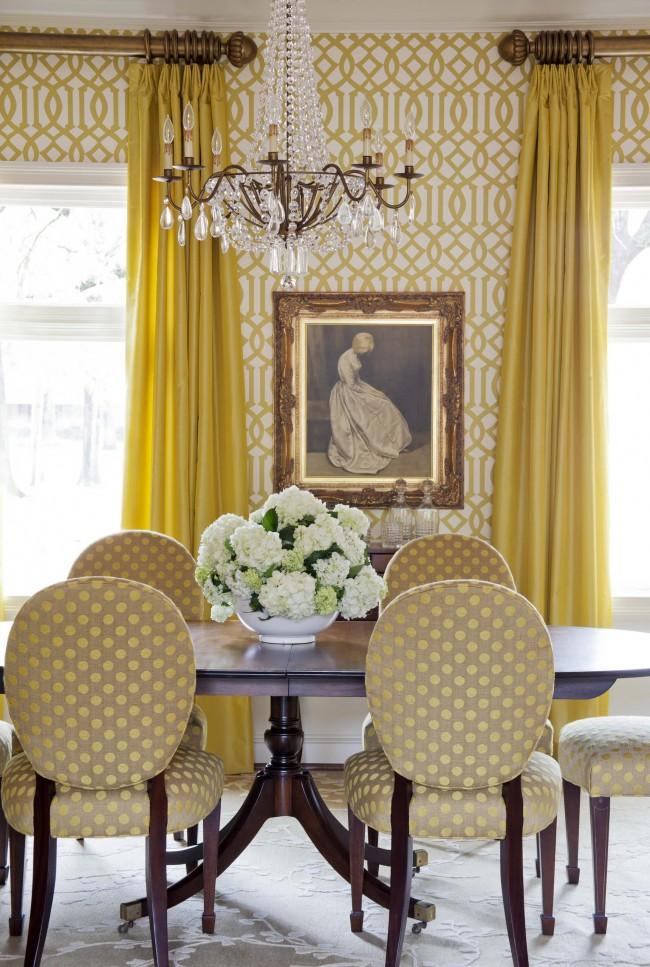 Гармоничное сочетание цвета стен и обивки мебели