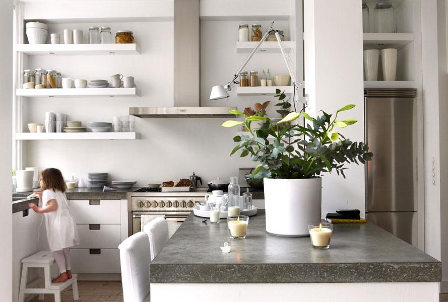 Дизайн полки кухни