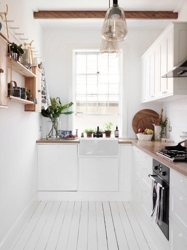 Эко-стиль в кухне – это светлая мебель, акценты и аксессуары из натурального дерева и живые растения