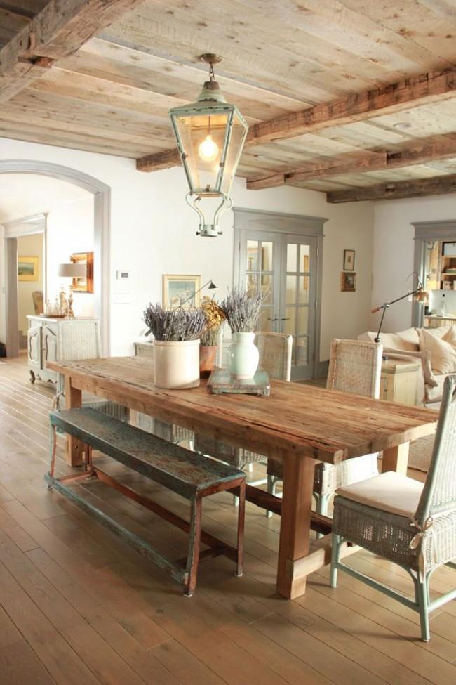Наивный и романтический стиль в декоре кухни
