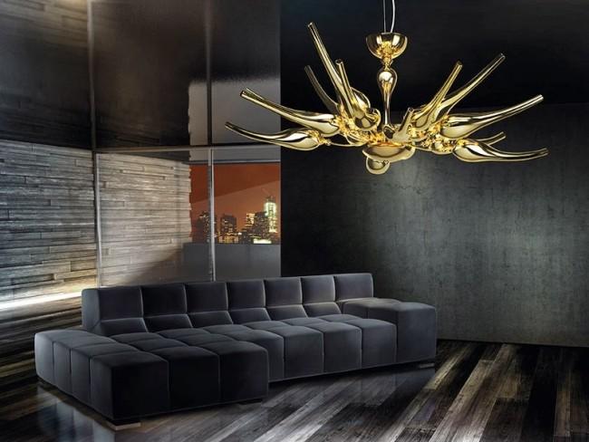 Абстрактный дизайн потолочного светильника