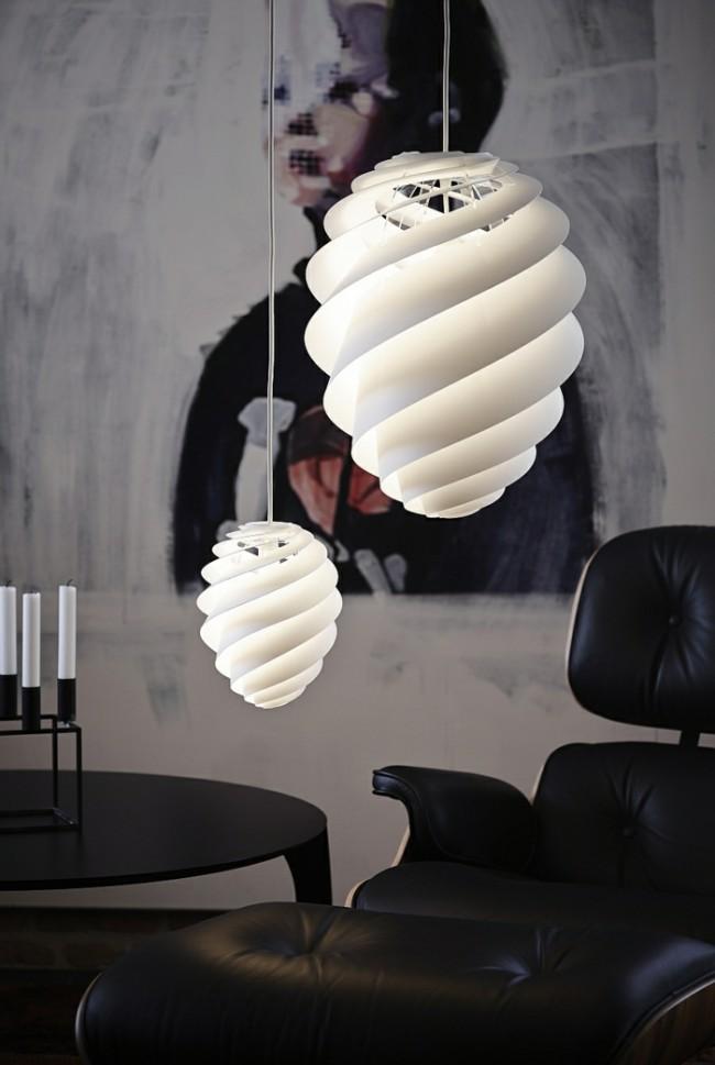 Ансамбль подвесных светильников с плафонами разных размеров