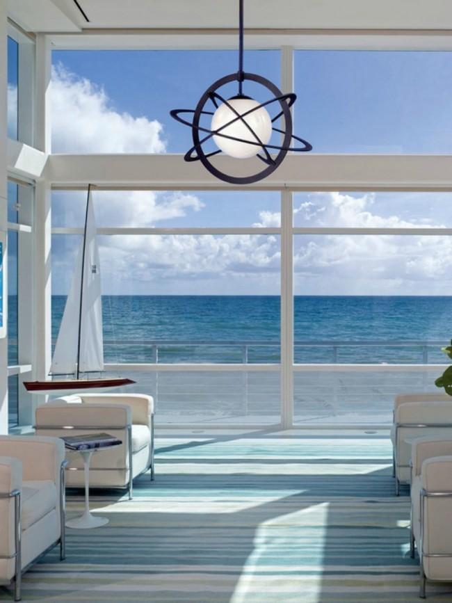 Люстры становятся координационными центрами в гостиных с минималистичной обстановкой