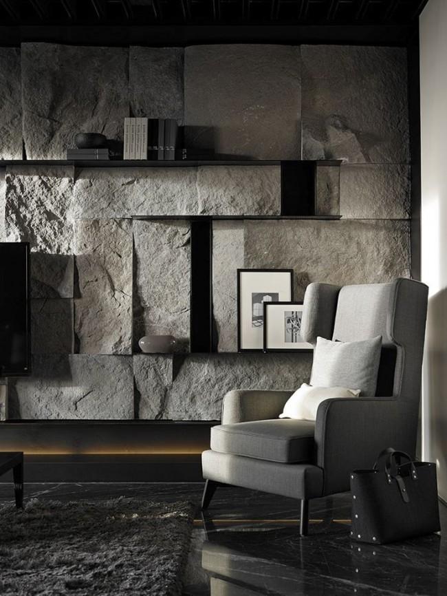 Объемность и грубая фактура натурального камня помогут создать нечто неповторимое, необычное и интересное