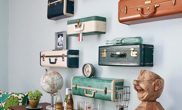 Самодельные полочки из старых чемоданов