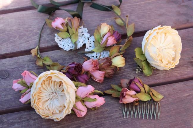 Роскошная пионовидная роза из фоамирана с легкостью станет любимым аксессуаром любой женщины
