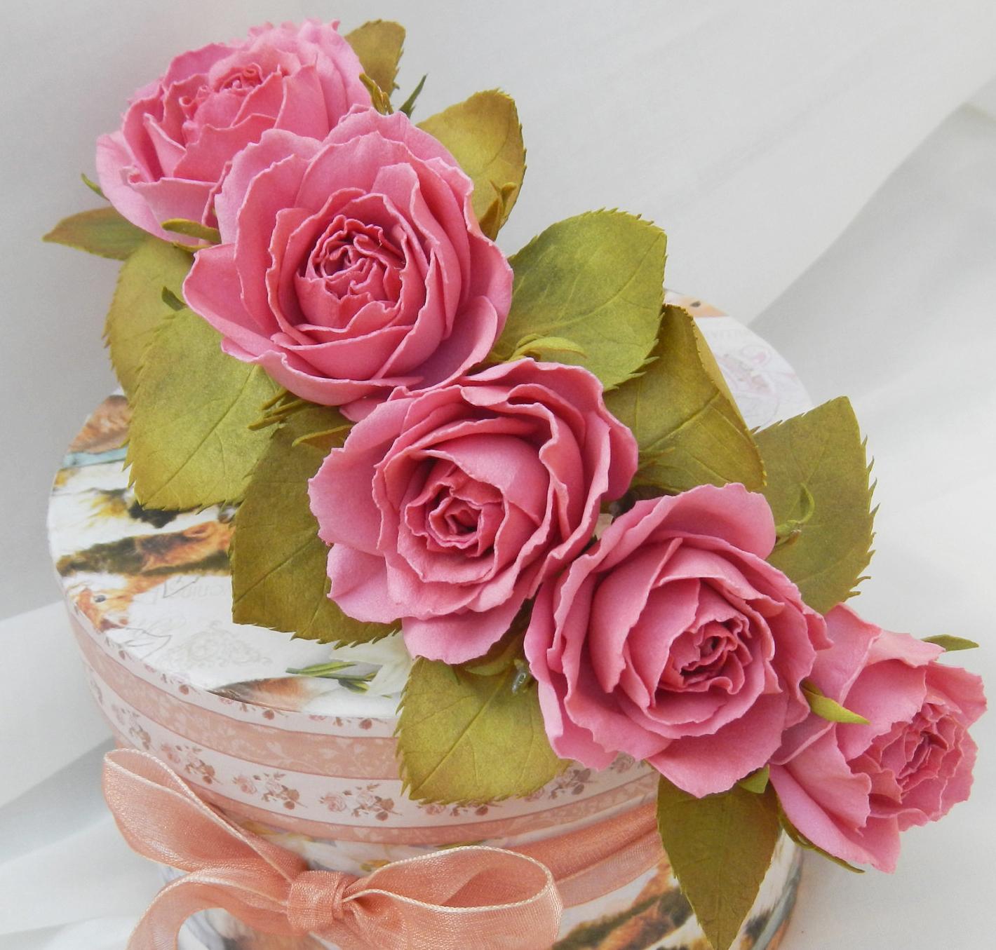 Фоамиран цветы мастер класс для начинающих выкройка фото 211