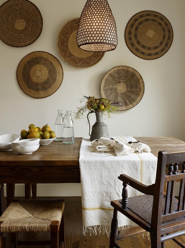 Декоративные настенные тарелки из натуральных материалов