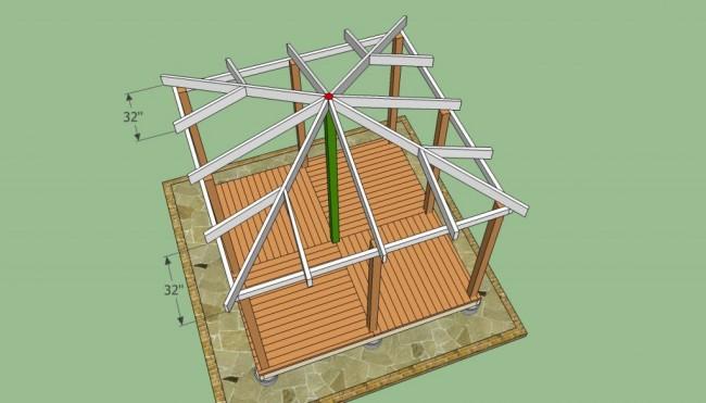 Создание геометрии крыши