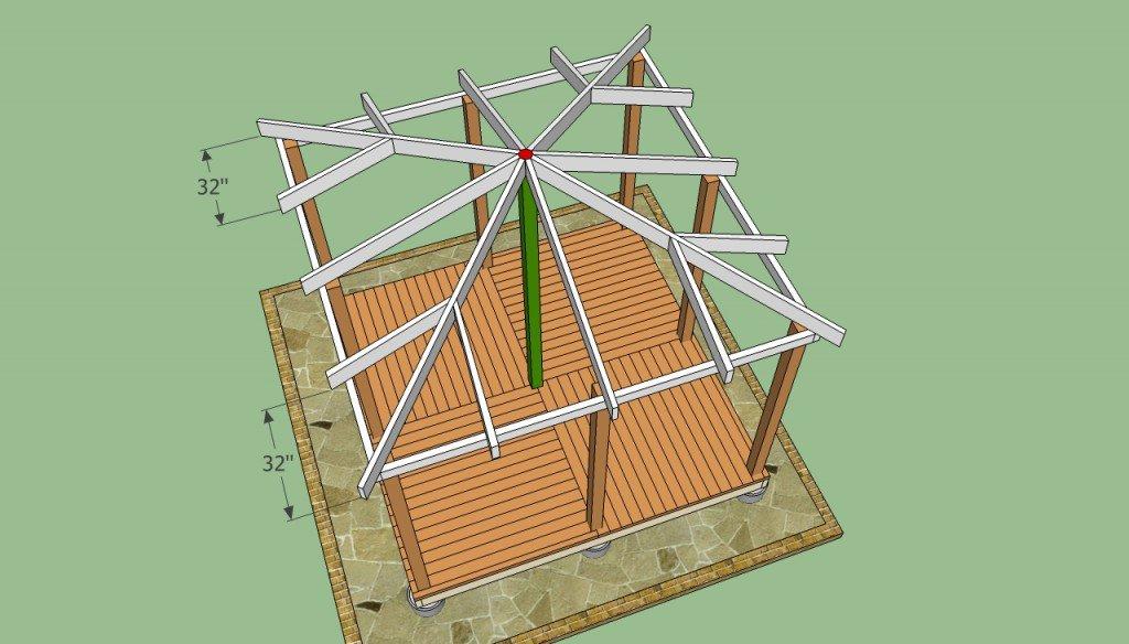 Как сделать четырехгранную крышу