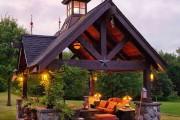 Фото 9 Деревянные беседки (65 фото): уютный уголок релакса на вашей даче