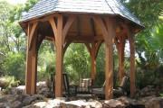 Фото 17 Деревянные беседки (65 фото): уютный уголок релакса на вашей даче