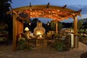Фото 27 Деревянные беседки (65 фото): уютный уголок релакса на вашей даче