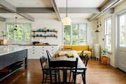 Фото 6 Диванчик на кухню: 75 симпатичных идей уютного уголка для семейного отдыха