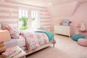 Фото 12 Дизайн детской комнаты для девочек: 100 фото воплощений розовой мечты