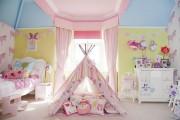 Фото 17 Дизайн детской комнаты для девочек: 100 фото воплощений розовой мечты