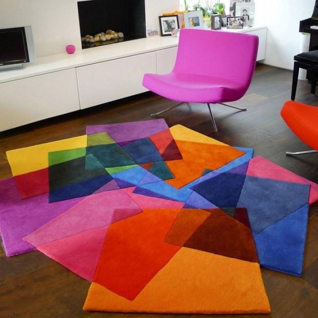 """Дизайнерский коврик """"After Matisse"""", как самостоятельное украшение гостиной комнаты"""