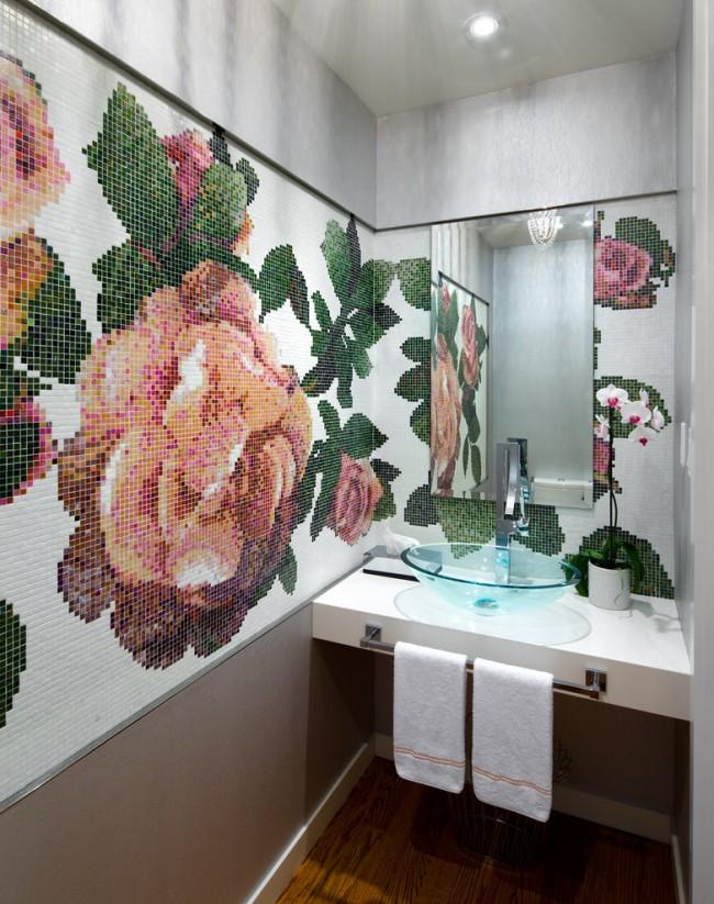 """Такой растительный узор можно выбрать из готовых сюжетов или собрать уникальный фантазийный из """"рассыпной"""" мозаики"""