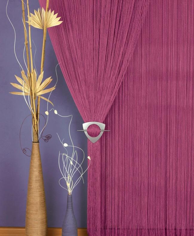 Заколка для декора веревочных штор придаст законченности интерьеру