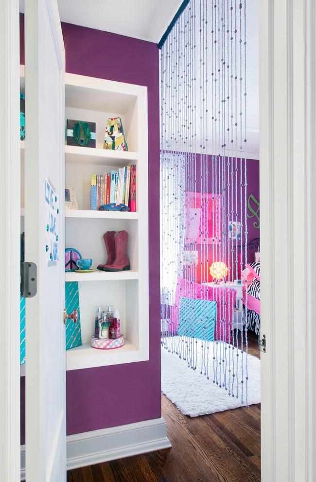 Нитяные шторы великолепно вписываются в дизайн детской комнаты и радуют детей