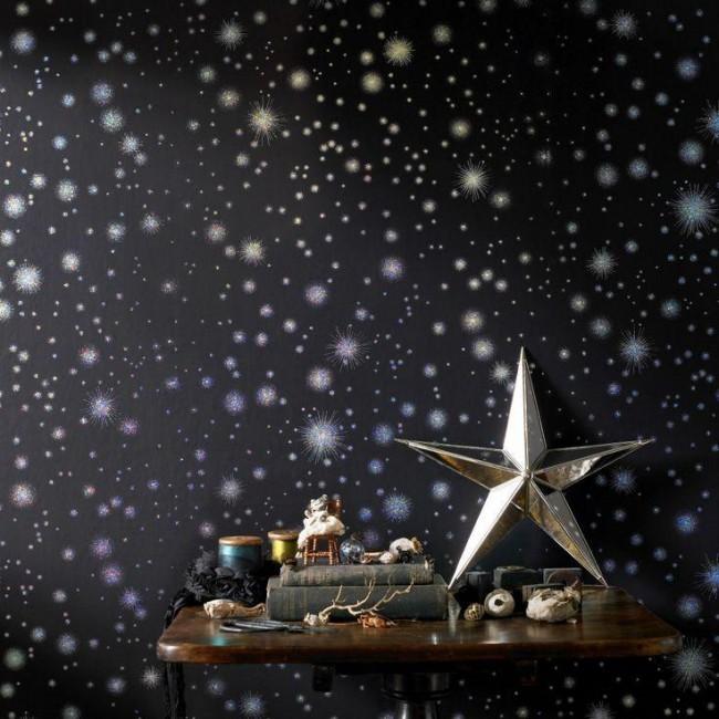 Бумажные обои со звездным рисунком