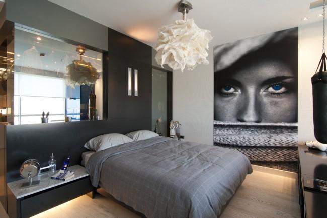 Фотообои в тон с интерьером комнаты подростка