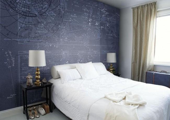 Нейтральный синий цвет располагает к комфортному отдыху