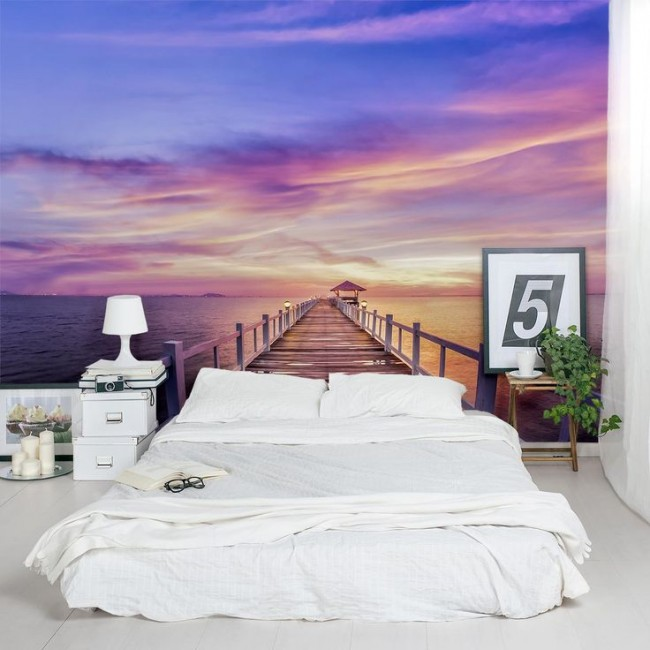 "Романтичная спальня ""с видом на морской закат"""