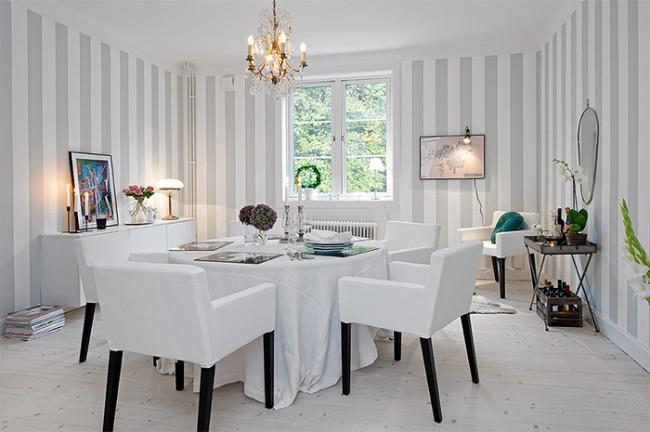 Переходный стиль: благодаря удачному фону мебель смотрится ещё более эффектно