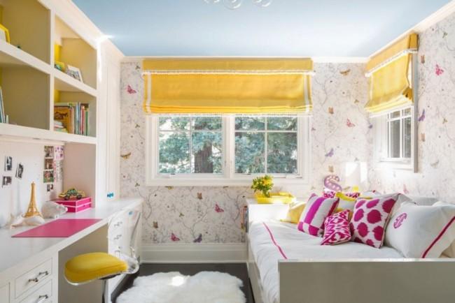 Готовые шторы для детской комнаты доступны в широком спектре красивых узоров и оттенков