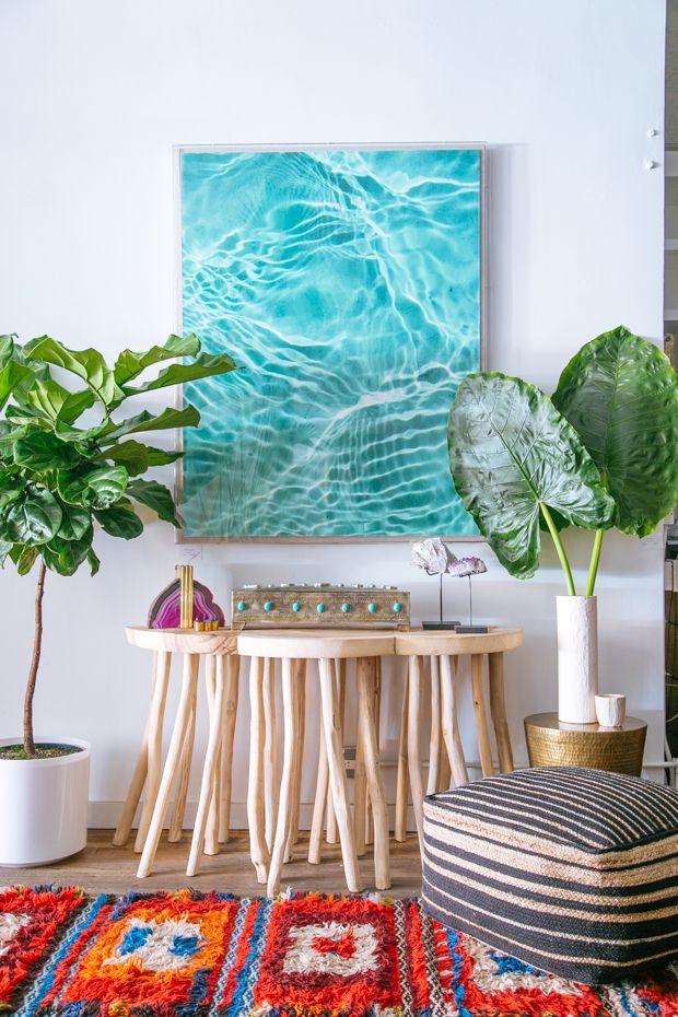 Свежие водные цвета в интерьере эко-стиля
