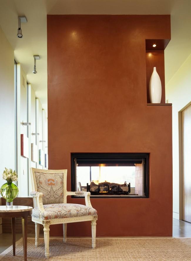 Декоративная штукатурка такого натурального цвета, как этот - одно из самых удачных решений для ностальгичных стилей дизайна помещения
