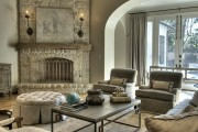 Фото 9 Угловые камины: 70 горячих идей для классических и современных гостиных (фото)