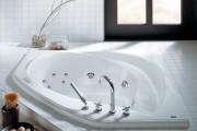 Фото 6 65 Идей угловых ванн в интерьере: всё о существующих видах, размерах и формах