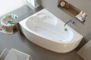 Фото 3 65 Идей угловых ванн в интерьере: всё о существующих видах, размерах и формах