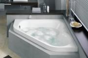 Фото 9 65 Идей угловых ванн в интерьере: всё о существующих видах, размерах и формах