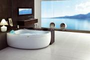 Фото 16 65 Идей угловых ванн в интерьере: всё о существующих видах, размерах и формах