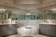 Фото 4 65 Идей угловых ванн в интерьере: всё о существующих видах, размерах и формах