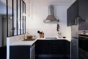 Фото 13 Черно-белая кухня: 40+ фото как оформить минималистичный интерьер