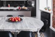 Фото 14 Черно-белая кухня: 40+ фото как оформить минималистичный интерьер